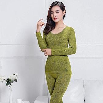 Militærgrønn, Womens Winter Underwear, Superundertøy til dame, ,