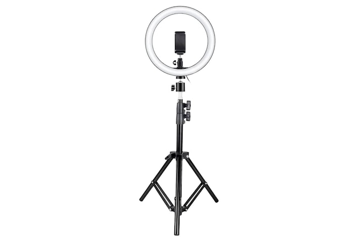Selfie-lampa / Ring light (26 cm) och stativ