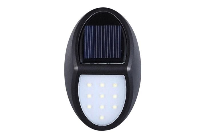 Vegglampe med solceller