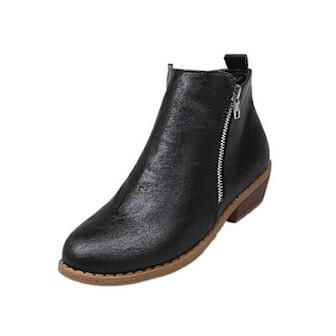 Svart, 36, Autumn Zip High Heel Shoes, Høyhelte ankelstøvler, ,