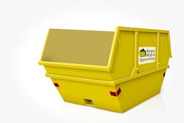 Leie av container (10m3) intill fem ukedager eller helg fra Bergen Miljø og Gjenvinning