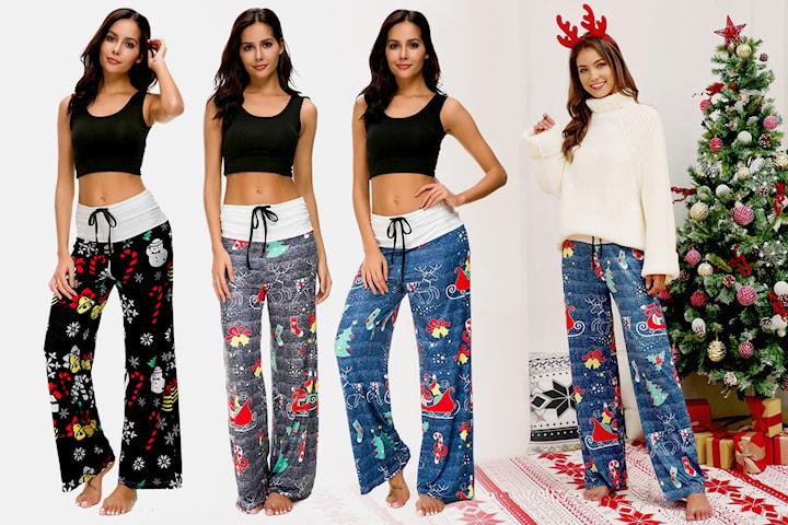 Myke bukser med julemotiver