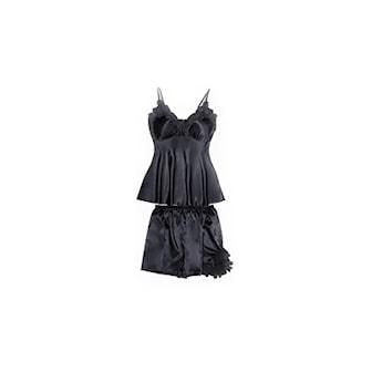 Svart, M, Strap Top & Shorts, Linne & Shorts, Pyjamasset i lyxig design,