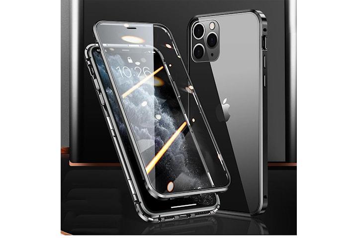 Magnetisk deksel dobbeltsidig herdet glass til iPhone 12/12 Pro