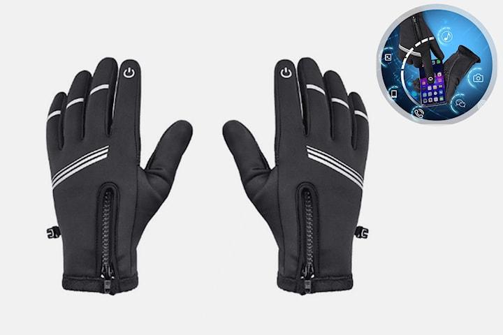 Touch-handskar i fleece