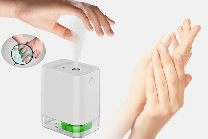 Automatisk dispenser til desinfeksjonsmiddel