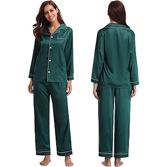 Grön, M, Silky Smooth Pajamas, Silkesmjuk pyjamas,