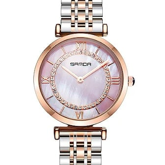Rosa, SANDA P1011 Stainless Steel Woman Watch, Dameklokke SANDA P1011, ,