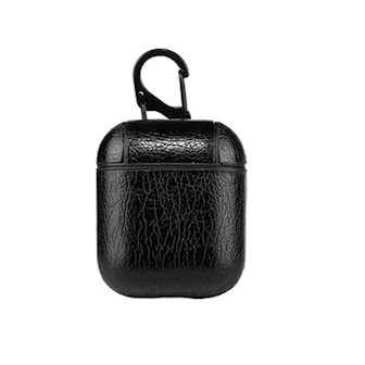 Svart, PU-Leather Case for Airpods, Ladeetui til AirPods, ,