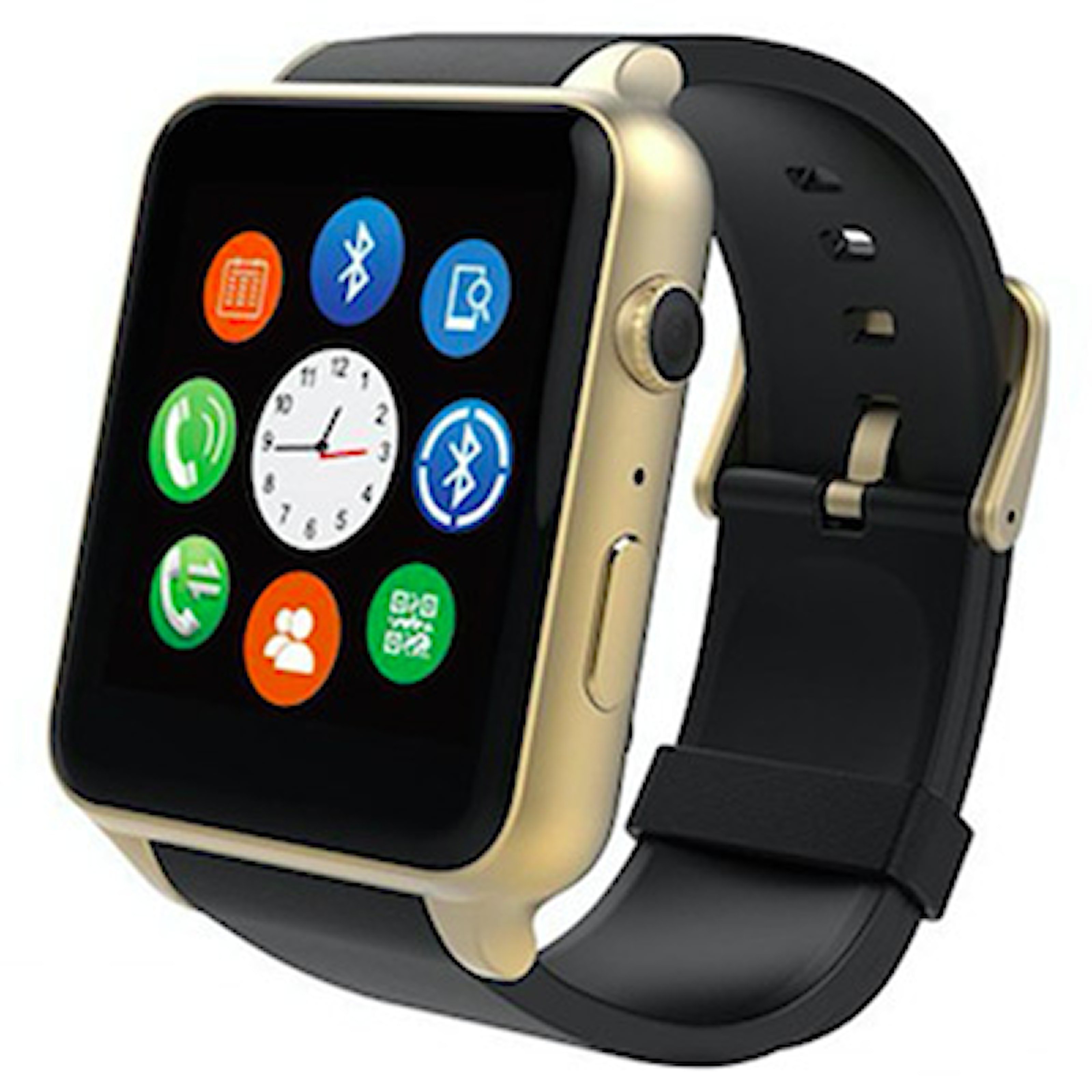 Svart/Guld, Multifunctional Bluetooth Smart Watch and Fitness Tracker, Smartwatch, ,