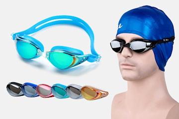 Anti-dugg UV svømmebriller i unisex