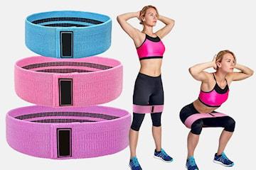 Elastisk treningsbånd 3-pack