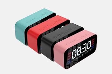 Bluetooth høyttaler med alarmklokke