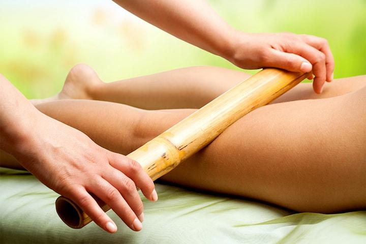 Bambumassage med sockerrör hos Lyxkliniken