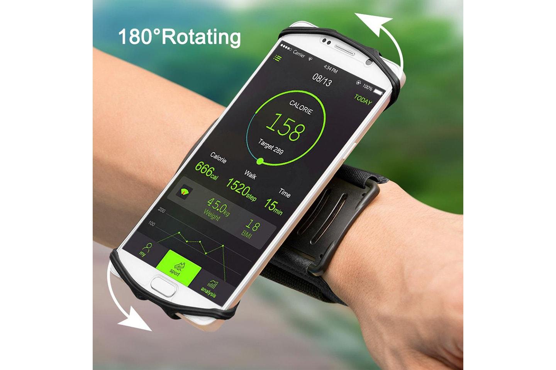 Roterbart armband för iPhone och Android
