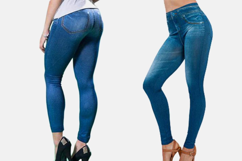Jeggings – leggings med jeans-look (1 av 5)
