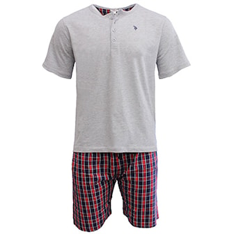 Grå/Röd, M, US Polo Pyjamas, US Polo pyjamas, ,