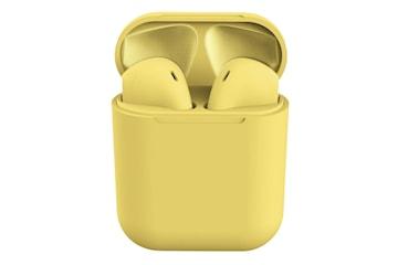 i12 Macaron Trådløst Hodetelefoner - Gul