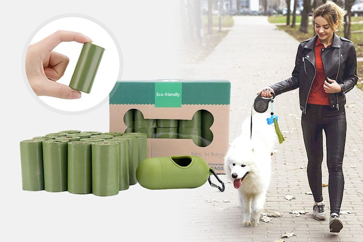 Biologiskt nedbrytbara hundpåsar storpack