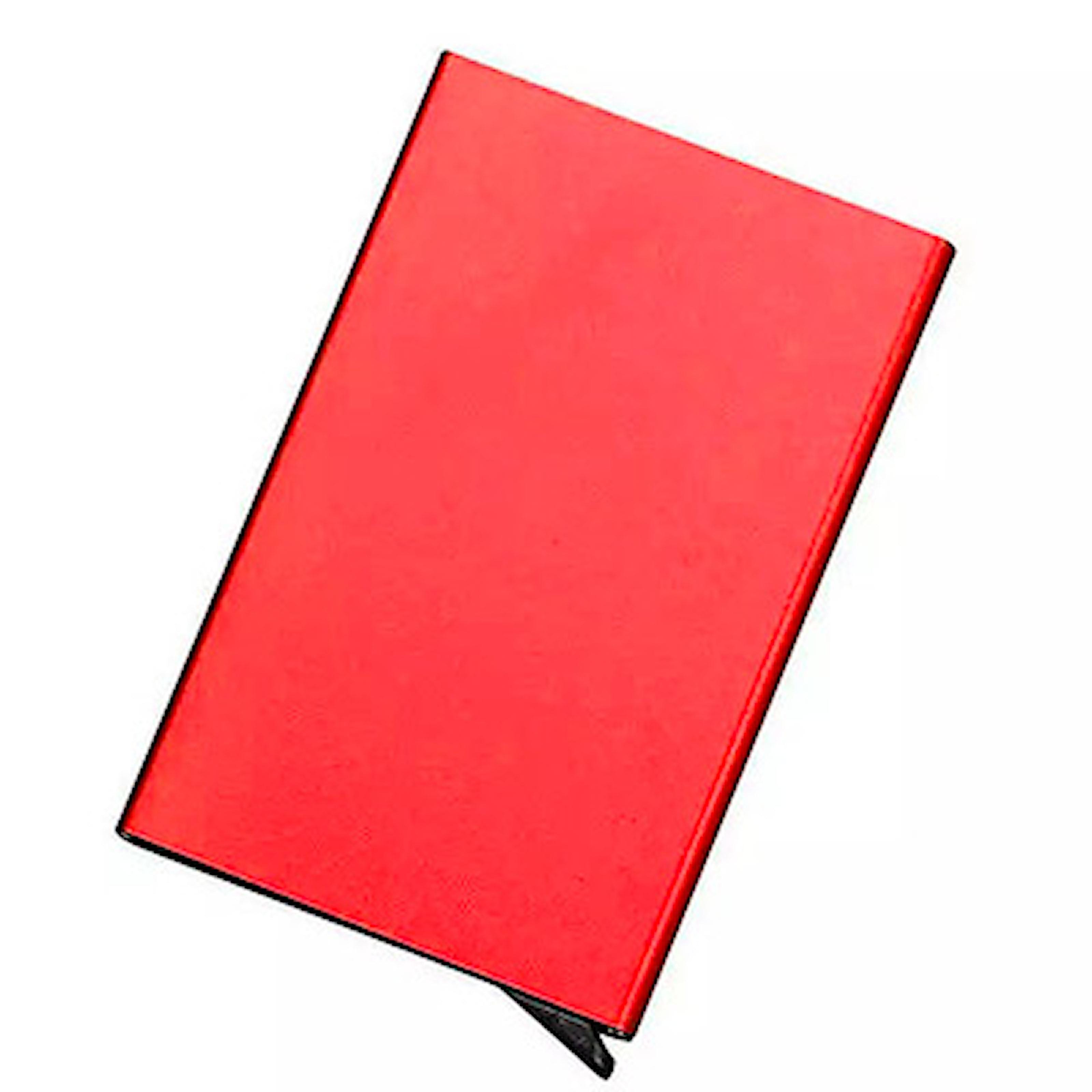 Red, Smart cardholder with popup function 5 cards, Korthållare med RFID-skydd, ,