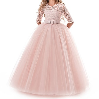 Rosa, 130 cm, Princess Dress for kids, Prinsessekjole for barn,