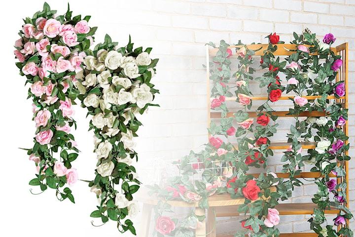 Dekorativ roser i plastikk 1-pack, 2-pack eller 3-pack