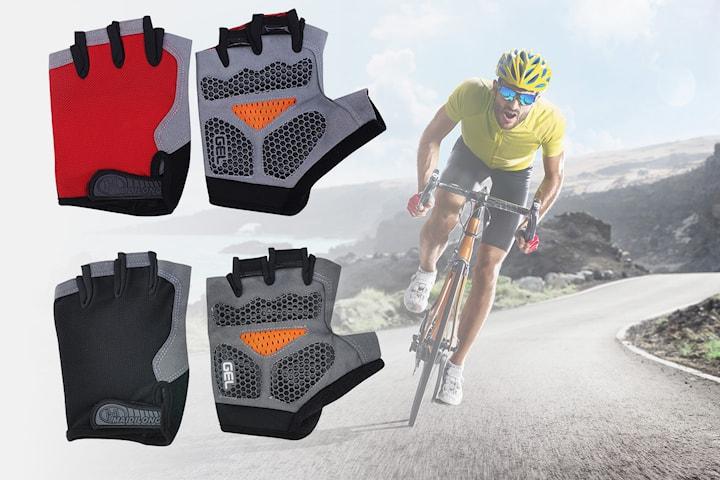 Cykelhandskar med geléfyllning
