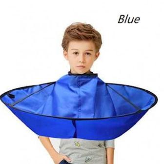 Blå, Foldable Hair Cutting Cloak Umbrella Cape, Rund frisörkappa, ,