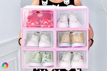 Förvaringslådor för skor, 6- eller 9-pack