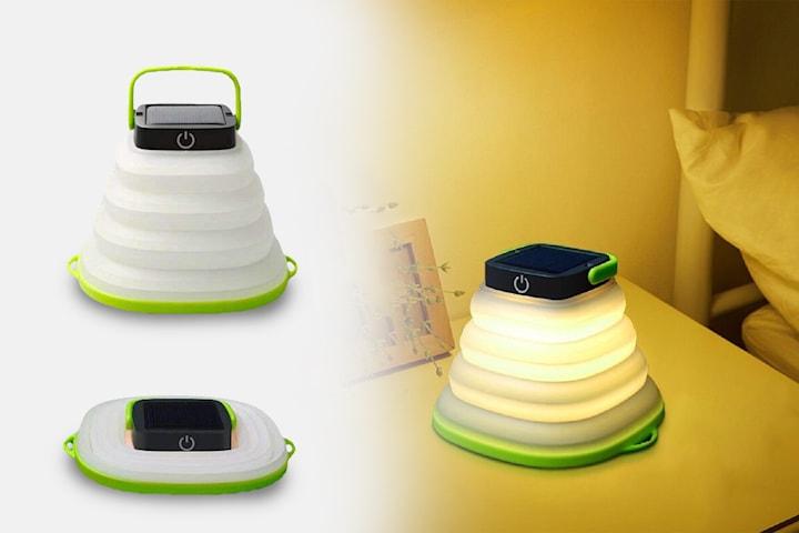 LED-lampe med solceller perfekt for camping