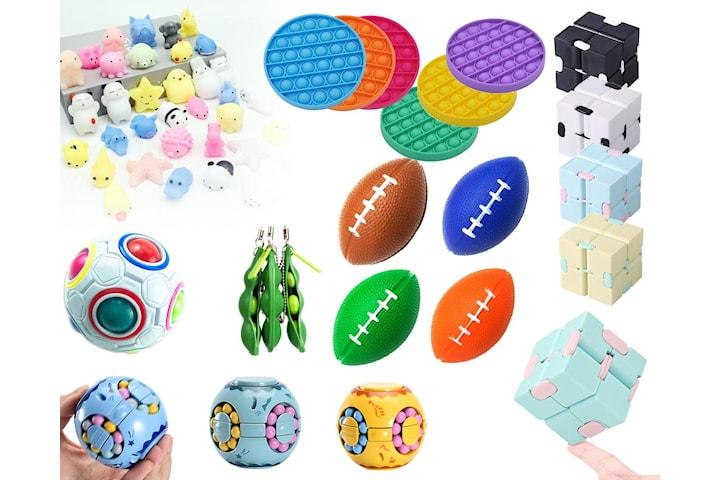 Anti-stresspaket: 12 st anti-stress leksaker