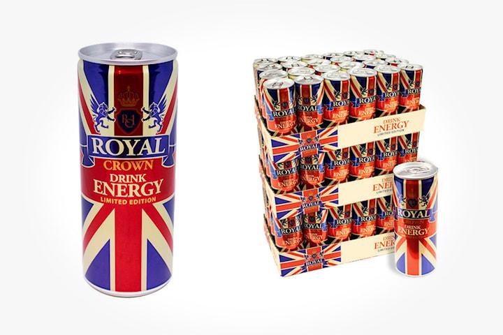 Royal Crown energidrikke (24 eller 72 stk. à 25 cl)
