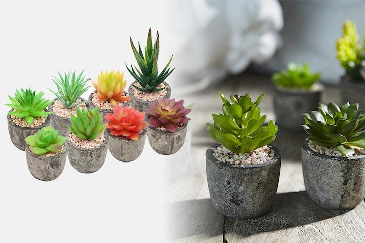 Kunstige potteplanter i 1-, 2-, 4- eller 8-pack