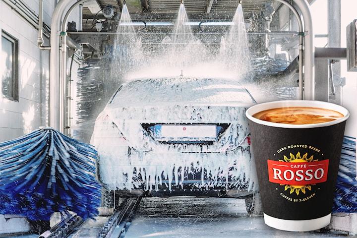 Kjøp opptil tre klipp bilvask hos YX 7-Eleven Nygårdskrysset, inkludert kaffe