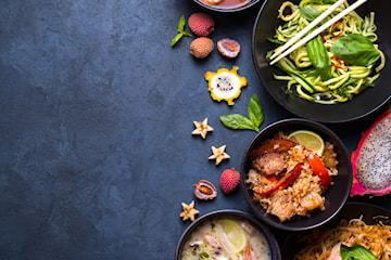 6-retters tastingmeny hos Apsorn Thai