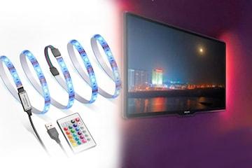 LED-ljusremsa för skärm