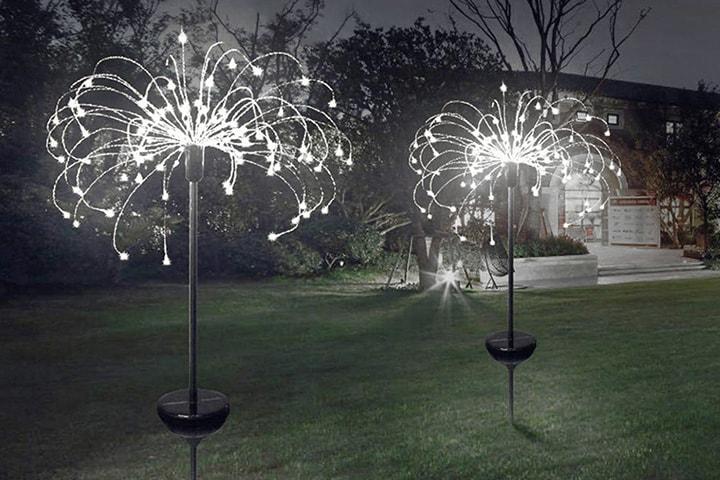Dekorativ trädgårdsbelysning med solceller