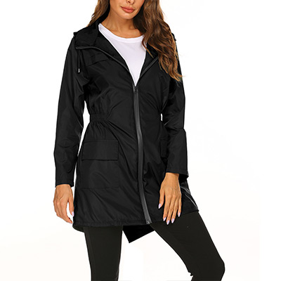 Svart, L, Waterproof Windbreaker Jacket, Vindjacka,  (1 av 1)