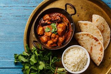 Indisk to retters hos New Shalimar restaurant, for én til åtte personer