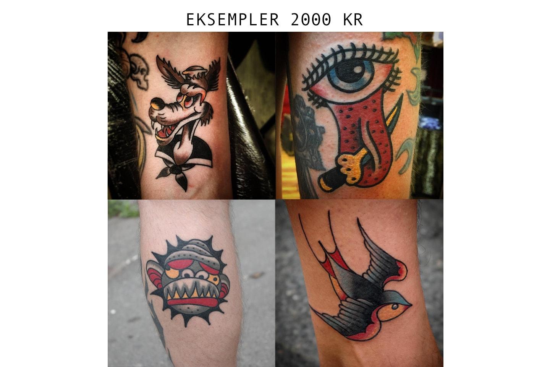 Gavekort på old school tatovering hos Genistreker i Bergen sentrum