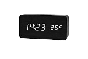 Digital LED Väckarklocka i Trädesign - Svart / Vit