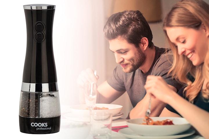 Cooks Professional All-in-One elektrisk salt- och pepparkvarn