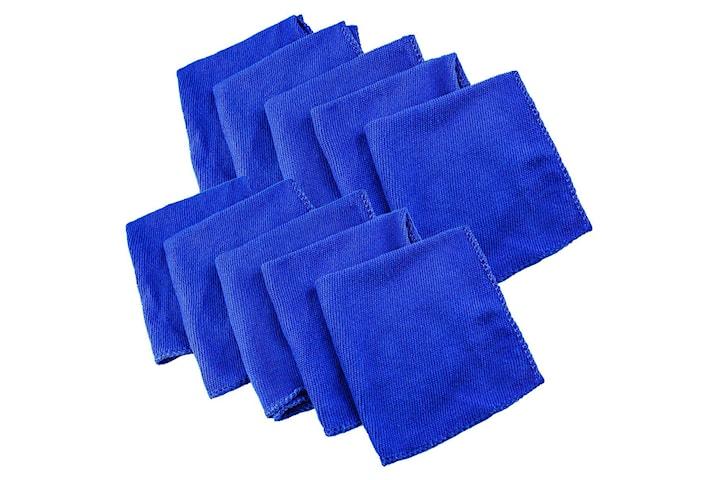 10x Microfiberdukar - Blå
