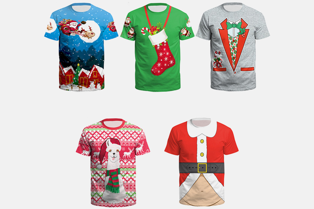 T-skjorte med julemotiv (1 av 8)