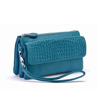 Blå, Leather And PU-Leather Handbag, Stilig veske i PU-skinn, ,