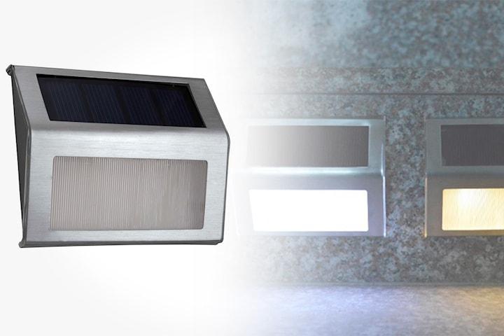 Solcellelampe med LED-lys