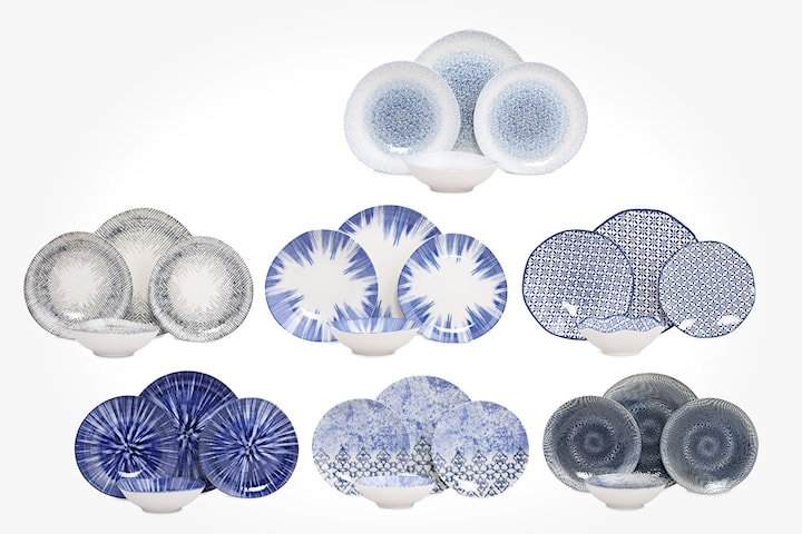 Hermia Digibone servis blått mönster 24 delar
