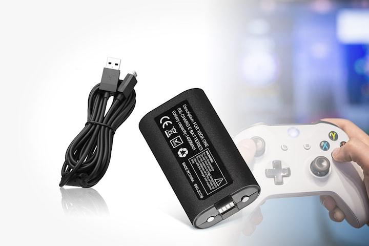 Batteri och kabel för Xbox One-spelkontroll