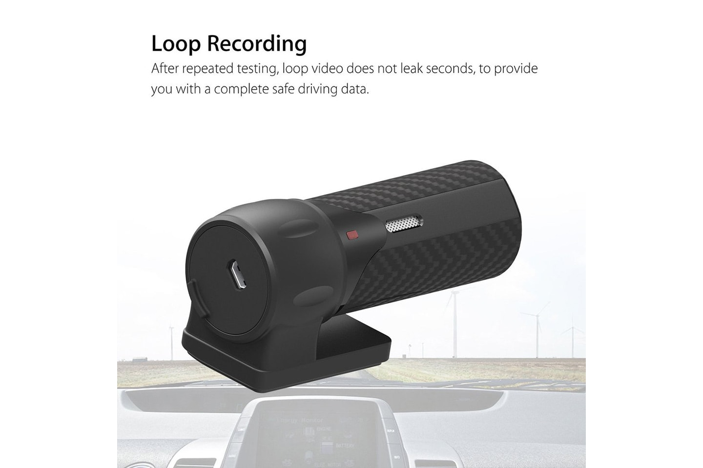 Dashcam 140° med Wi-Fi og full HD