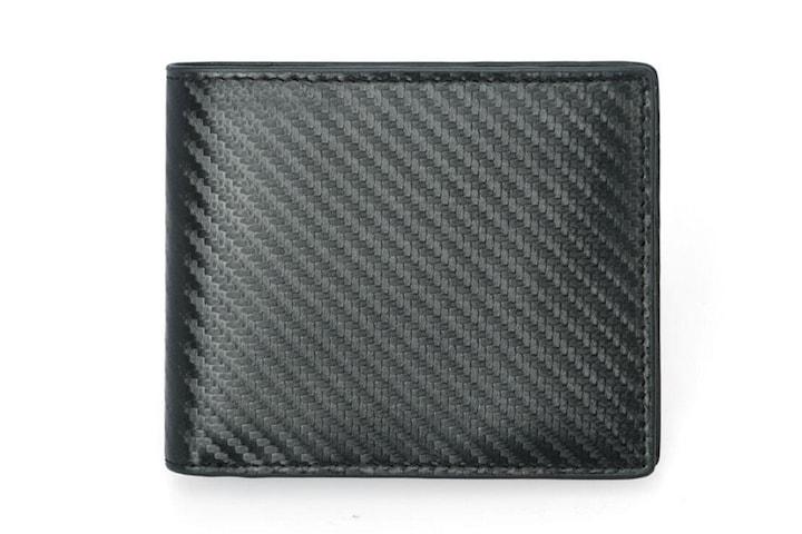 RFID karbon lommebok i ekte skinn